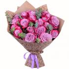 Букет из 21 фиолетовой розы